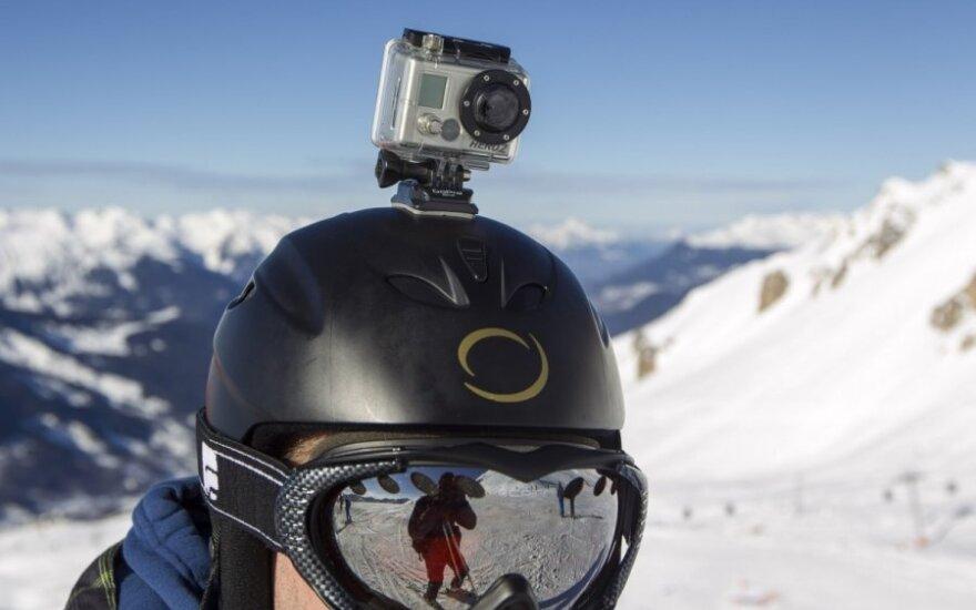 Slidininko šalmo kamera