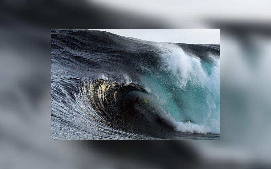 Smarkus atogrąžų ciklonas smogė Didžiojo barjerinio rifo regionui