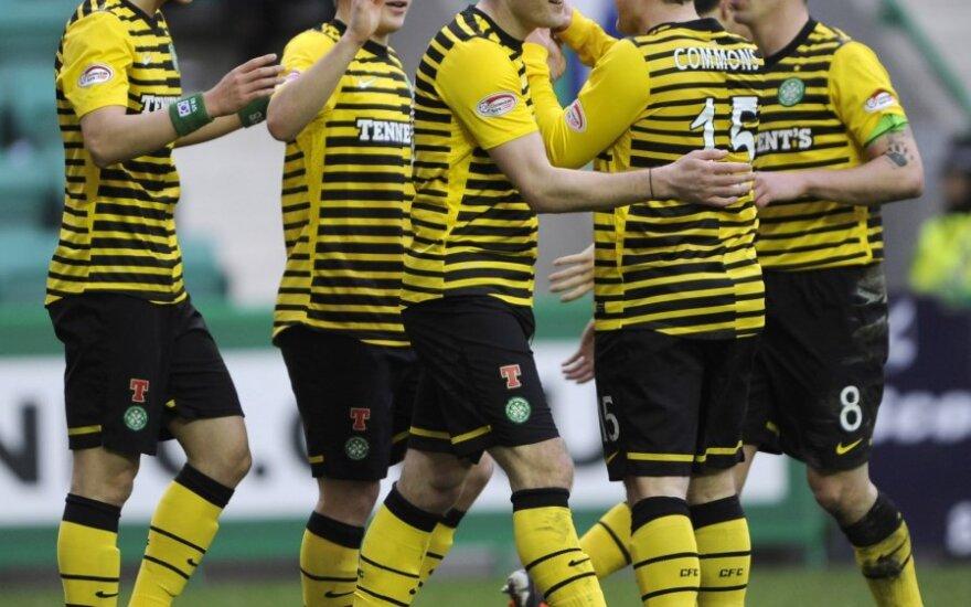 """""""Celtic"""" futbolininkai džiaugiasi pergale"""