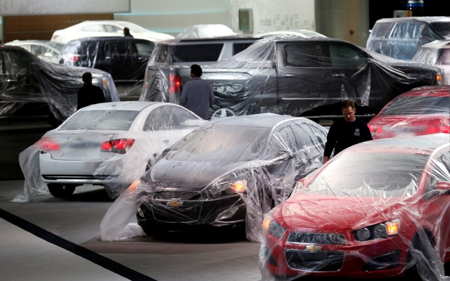 """""""General Motors"""" stendas prieš parodos Detroite atidarymą"""