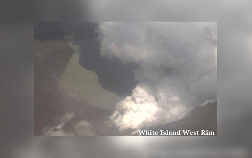 Naujosios Zelandijos ugnikalnio išsiveržimo aukų padaugėjo iki šešių