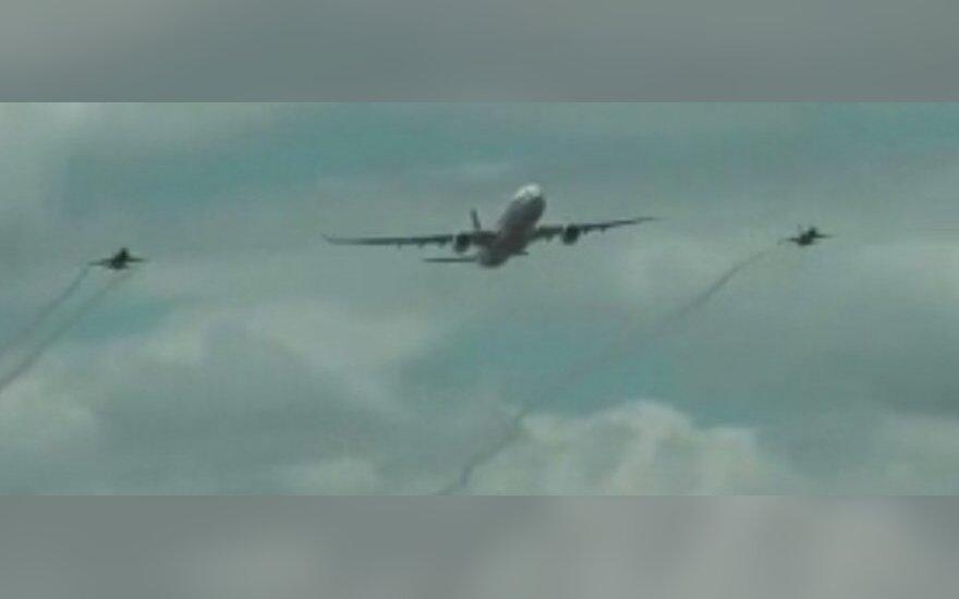 Amerikoje sudužo lėktuvas, kuris nereagavo į signalus