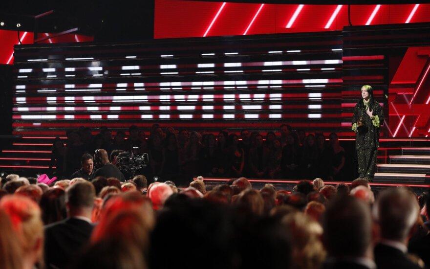 """""""Grammy"""" apdovanojimų ceremonijos akimirka"""