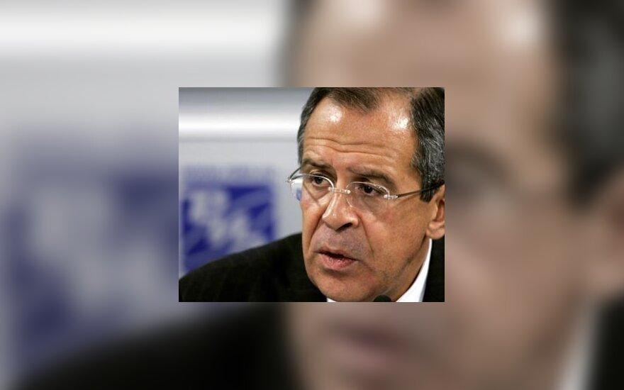 S.Lavrovas: Rusijos partneriai dedasi negirdintys apie rusakalbių teisių pažeidimus Baltijos šalyse
