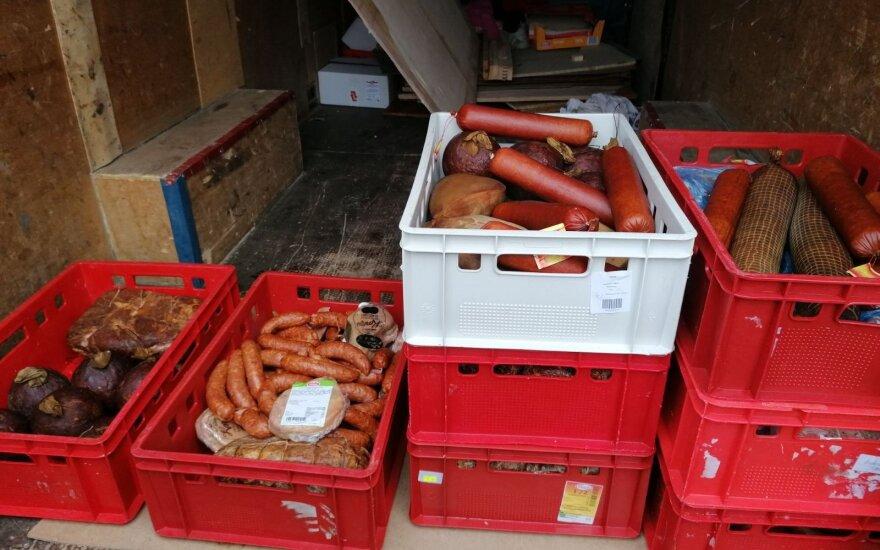 Prieš šventes Alytuje aptikta 300 kilogramų nelegalios mėsos