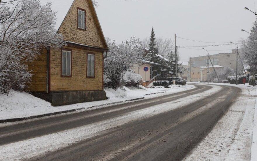 Tušti Senamiesčio gatvės Panevėžyje pakraščiai