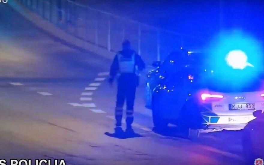 Naktį susekti vagių BMW Vilniaus policijai padėjo miesto vaizdo kameros