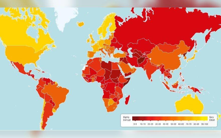 Korupcijos indeksas pasaulyje
