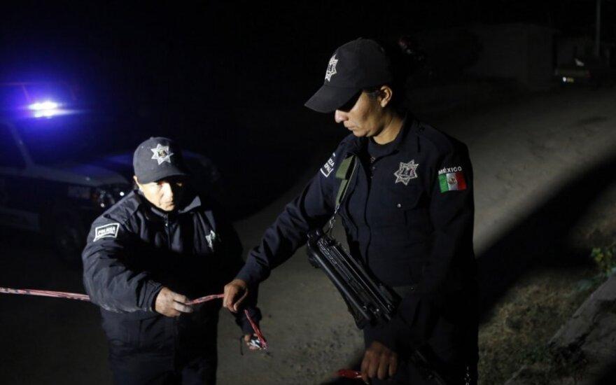 Meksikoje per susišaudymą žuvo policininkas ir aštuoni užpuolikai