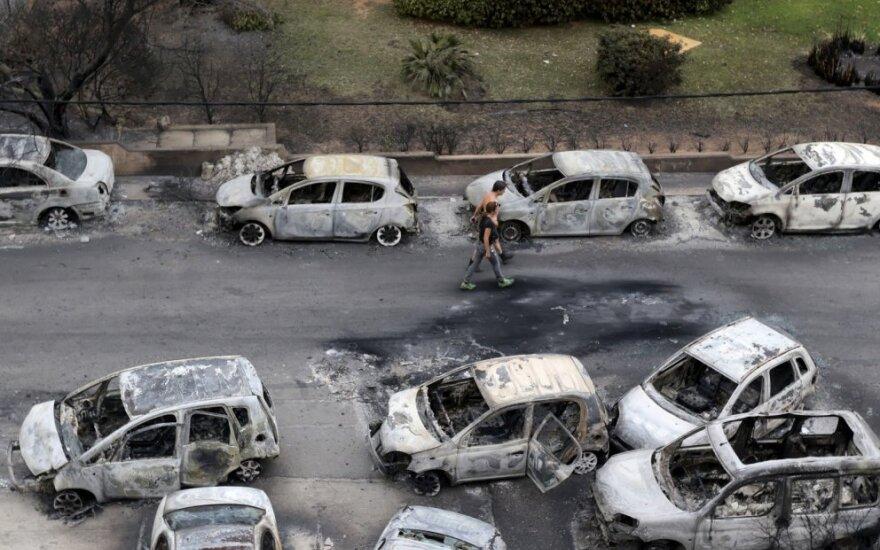 Už policiją atsakingas Graikijos ministras atsistatydino dėl gaisrų tragedijos