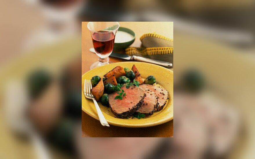mėsa, maistas, pietūs, valgis