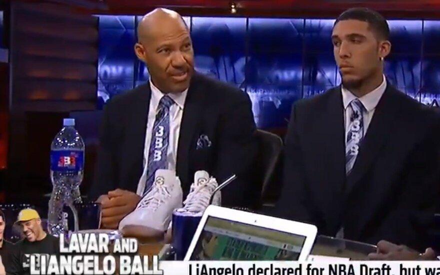 """LaVaras Ballas ir sūnus LiAngelo laidoje """"Undisputed"""""""