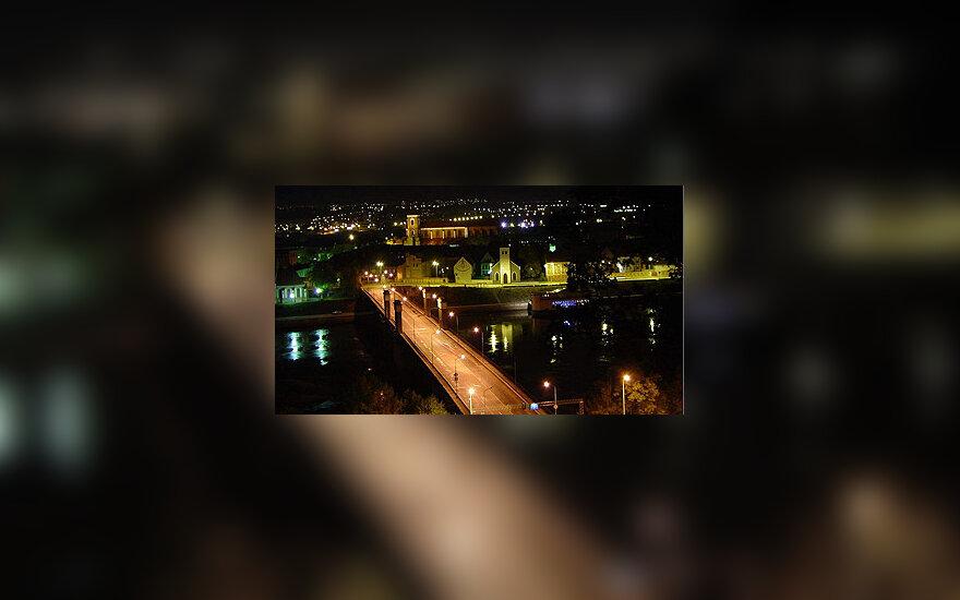 Kauno panorama naktį