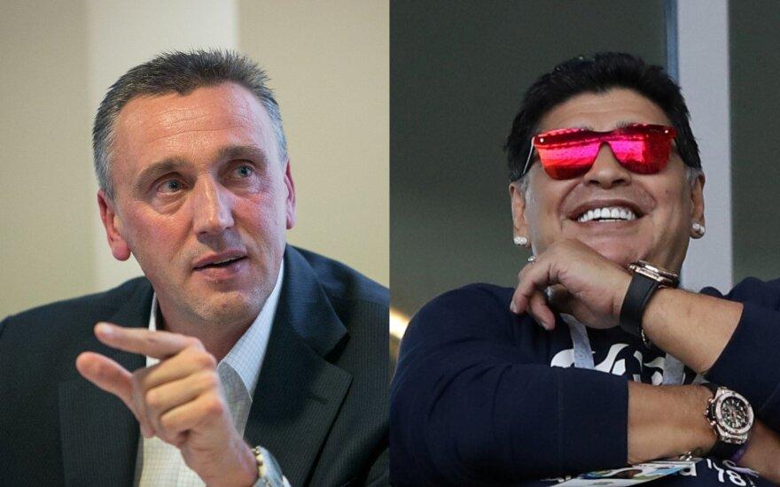 Valdas Ivanauskas Ir Diego Maradona