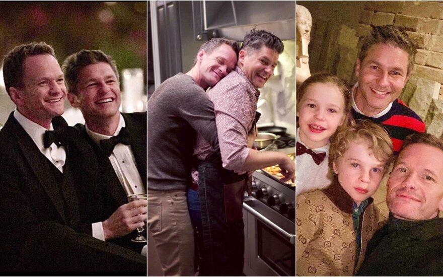Neil Patrick Harris ir David Burtka su vaikais