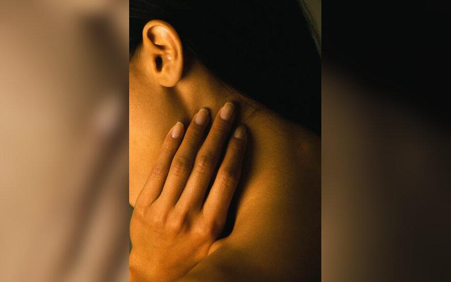 kaklas, moteris, skausmas