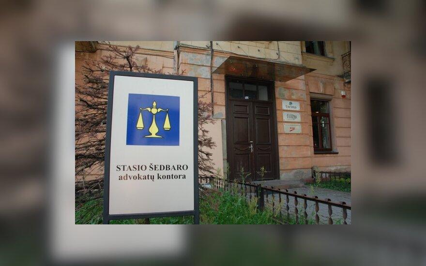 S.Šedbaro pavardė tebereklamuoja advokatų kontorą