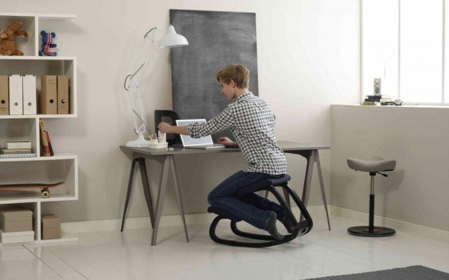 Kokia turi būti kėdė pagal ergonomikos dėsnius?
