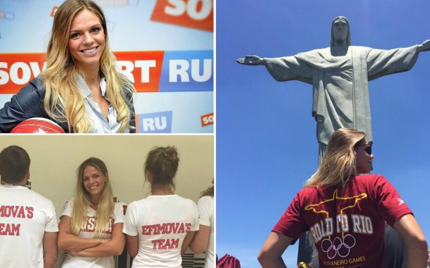 Julija Jefimova ruošiasi Rio de Žaneiro olimpinėms žaidynėms (Instagram nuotr.)