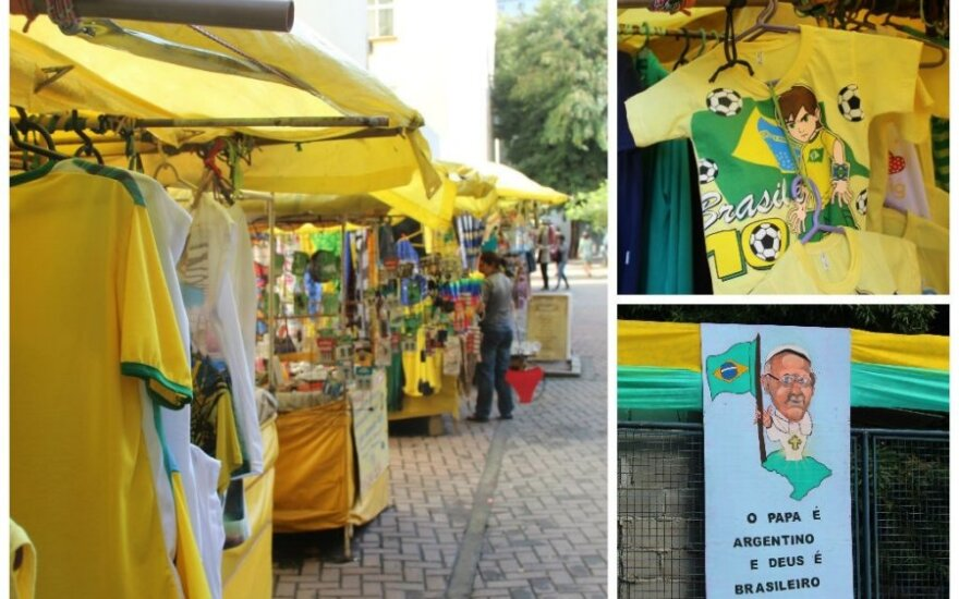 Nenorintys išlaidauti oficialioje Rio de Žaneiro sirgalių parduotuvėje gali apsipirkti turguje