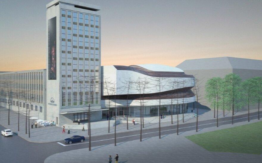 Rekonstruoto Klaipėdos muzikinio teatro vizualizacijos
