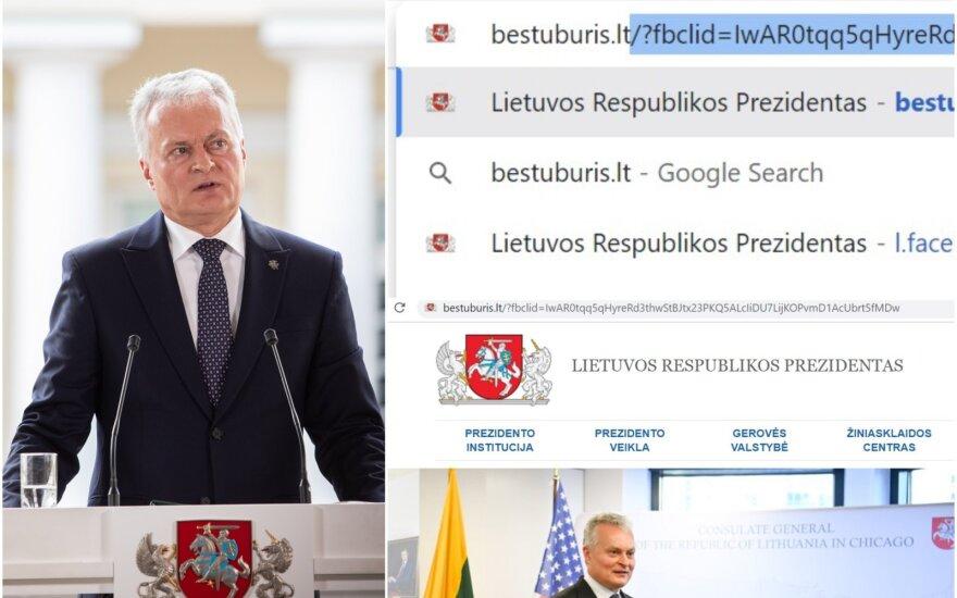 Prezidentūros svetainė susiduria su keblumais.