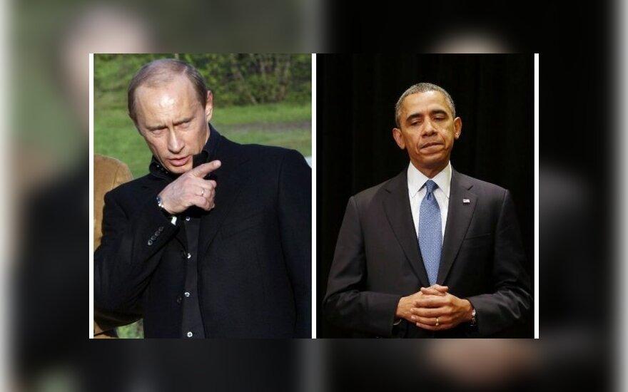B. Obama susiskambino su V. Putinu