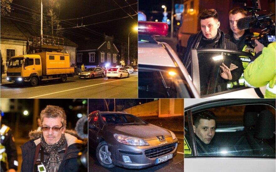 Naktinis reidas Vilniuje: girtas vairuotojas trenkėsi į elektros laidus tvarkiusius darbininkus