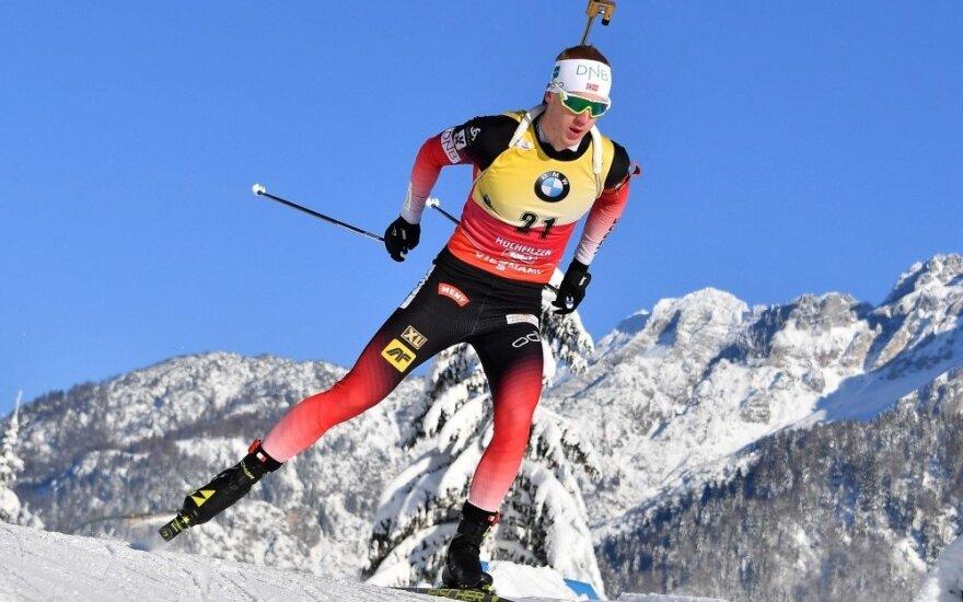 Strolia pasaulio biatlono taurės etape aplenkė 41 varžovą