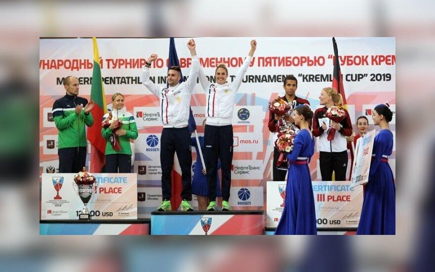 """Asadauskaitė-Zadneprovskienė ir Kinderis užėmė antrąją vietą """"Kremliaus taurės"""" varžybose"""