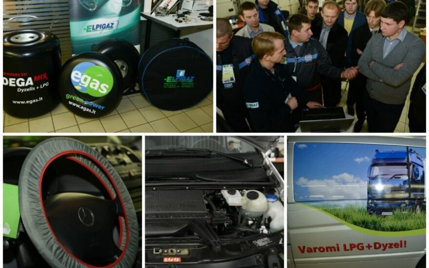 DEGAmix dujų įrangos dyzeliniams automobiliams montavimas