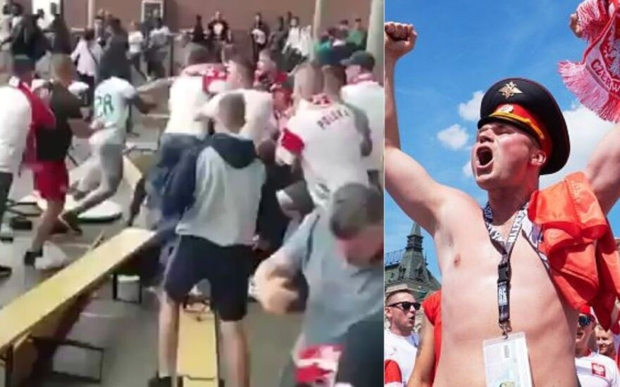 Lenkų fanai po pralaimėjimo puolė mušti senegaliečius