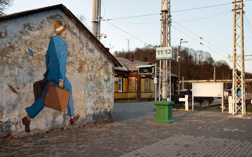"""Kauno geležinkelio stotyje įamžintas """"paskutinis keleivis"""""""