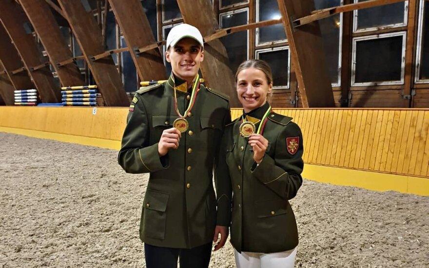Gintarė Venčkauskaitė-Juškienė ir Dovydas Vaivada (Nuotr. pentathlon.lt)