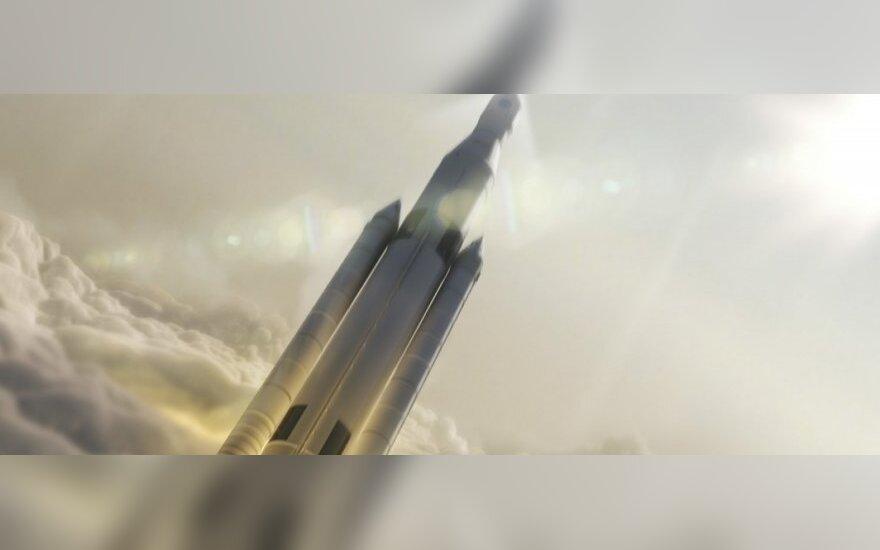 77 tonų keliamosios galios SLS pakilimas