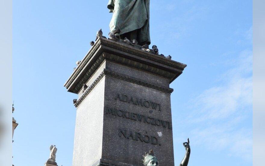 Adomo Mickevičiaus paminklas Krokuvoje (Lenkija)