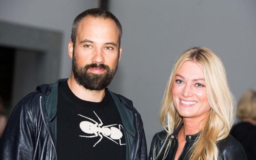 Lavija Šurnaitė su vyru Daumantu