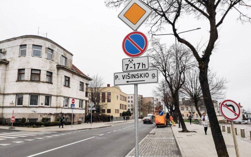 Eismas Kauno Žemaičių gatvėje