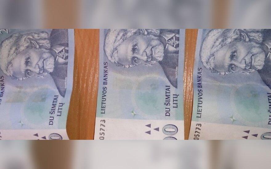 Padaugėjo padirbtų 200 litų banknotų