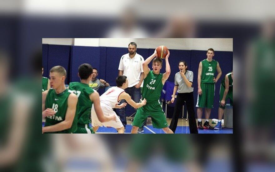 Lietuvos U16 vaikinų krepšinio rinktinė (TBF nuotr.)