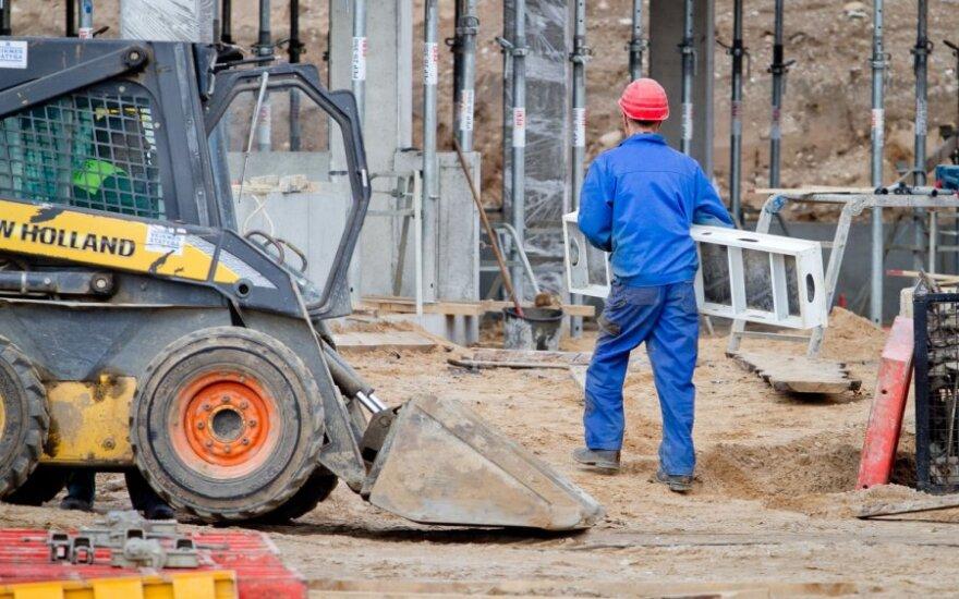 Statybos bendrovės žada mažinti darbuotojų skaičių