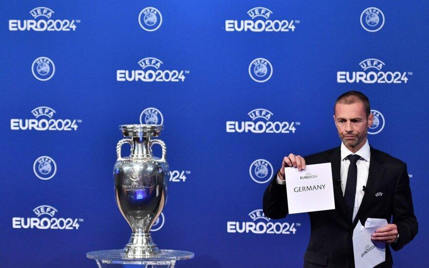 Europos 2024 metų futbolo čempionatą organizuos Vokietija