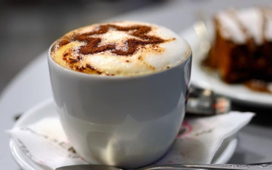 Kava su baltuoju šokoladu