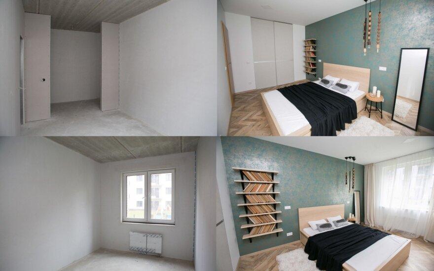 Kaip plikos sienos virto jaukiais miegamaisiais: sprendimai, kuriuos gali įgyvendinti kiekvienas