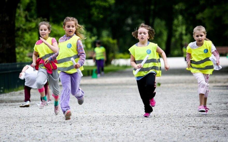 Bernardinų sode – vaikų bėgimas