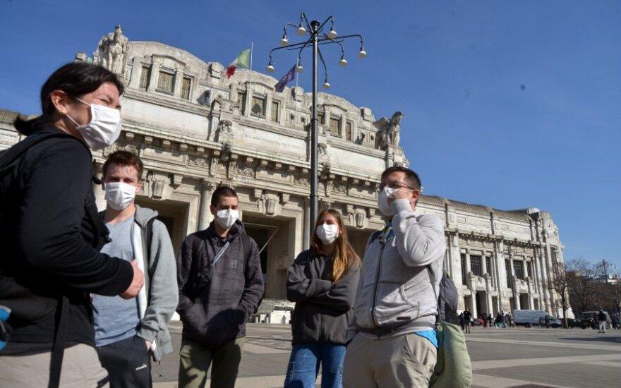 Italijoje pirmam miesto merui nustatytas koronavirusas