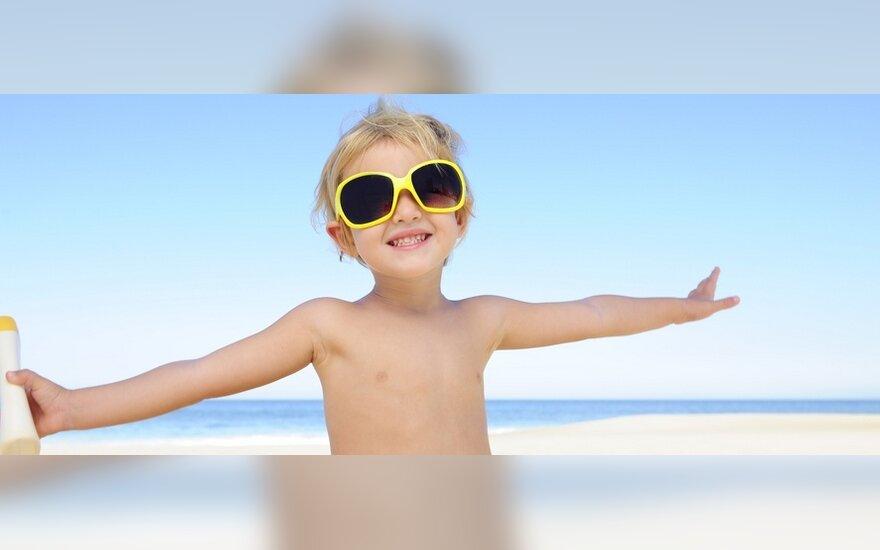 Kuo gali susirgti vaikas, išteptas kremu nuo saulės?