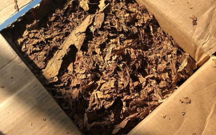 Šventežeryje aptikta nelegalaus tabako už milijoną eurų