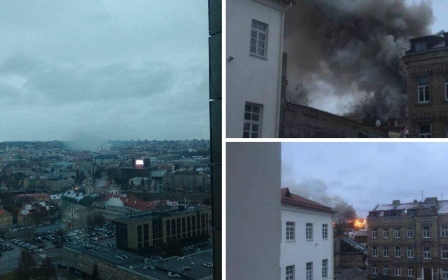 Vilniaus Senamiestyje buvo kilęs gaisras