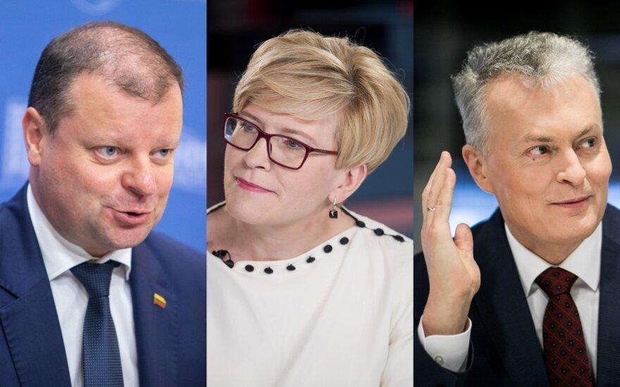 Saulius Skvernelis, Ingrida Šimonytė, Gitanas Nausėda